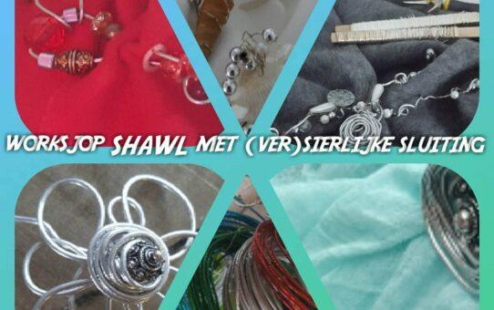 WORKSJOP SHAWL met (ver)sierlijke sluiting